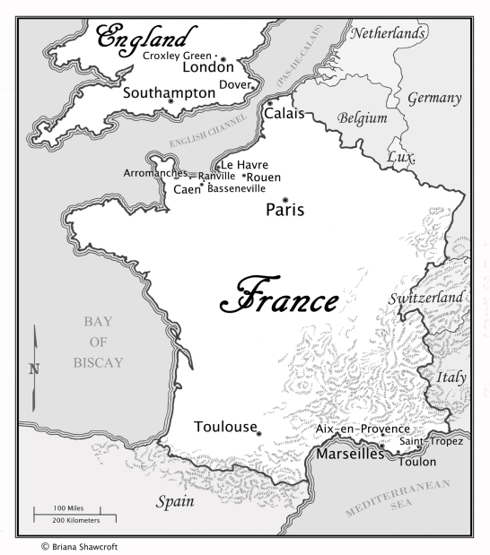 Here is the map of France.