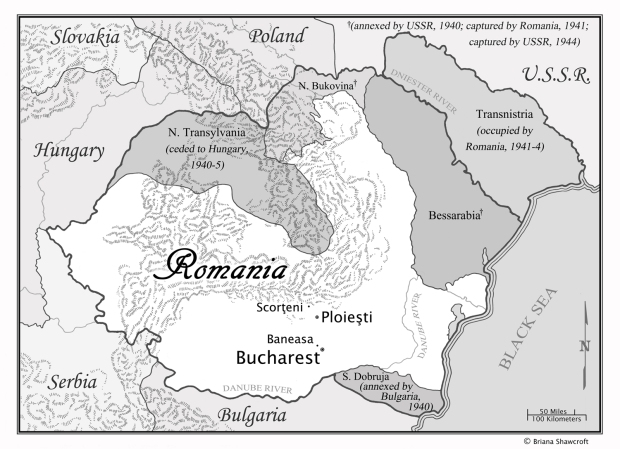 And here's the map of Romania.