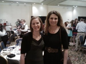 With author Kelly Nelson. She writes time travel novels for young adult readers.